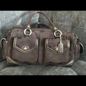 Coach monogram purse.